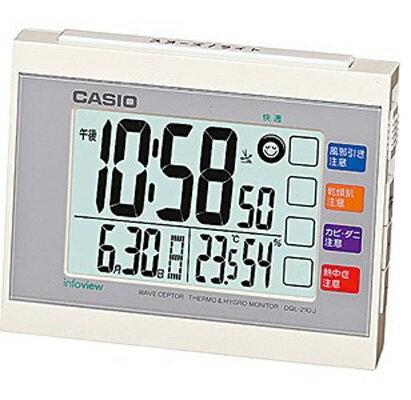 カシオ 電波時計 置時計 デジタル 目覚まし時計 日付・曜日 カレンダー アラーム スヌーズ(CL15JU07WHT)温度 湿度計 LEDライト付き 大型液晶 カシオ CASIO 電波時計 目覚まし時計