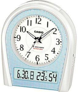 カシオ 電波時計 置時計 デジタル アナログ 目覚まし時計 おしゃれな パールシルバー(CL15JU10)見やすい アラビア数字 温度 湿度計 日付 曜日 カレンダー アラーム スヌーズ 秒針 音がしない