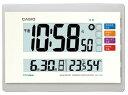 カシオ 電波時計 壁掛け時計 デジタル 掛け時計 お部屋環境お知らせクロック ホワイト 白(CL15JU42WHT)日付・曜日 …