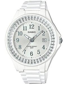 カシオ スポーツウォッチ 5気圧防水 レディース アナログ 腕時計 かわいい ホワイト 白 (LH16FBP-1401WHWH) アラビア数字 3針 クォーツ 日付カレンダー ランニングウォッチ CASIO LADYS ANALOG 海外限定