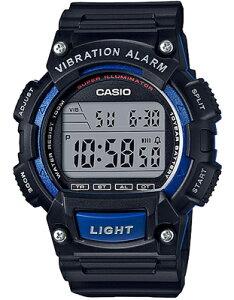 カシオ スポーツウォッチ 10気圧防水 メンズ デジタル 腕時計 ブルー 青 (WH16JLP-102BKBU) バイブ 振動アラーム ストップウォッチ カウントダウンタイマー LEDライト付き ランニングウォッチ CASIO