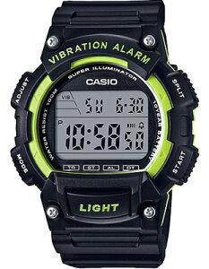 カシオ スポーツウォッチ 10気圧防水 メンズ デジタル 腕時計 ブラック 黒 (WH16JLP-103BKGR) グリーン 緑 バイブ 振動アラーム ストップウォッチ LEDライト付き ランニングウォッチ CASIO 海外限定