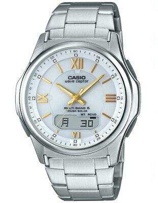 カシオ 電波時計 スポーツウォッチ 5気圧防水 メンズ デジタル アナログ ソーラー電波 腕時計 ホワイト 白(WV16AU02WHT)ローマ数字 電波ソーラー ストップウォッチ LEDライト付き ランニングウォッチ CASIO マラソン ランニング 時計