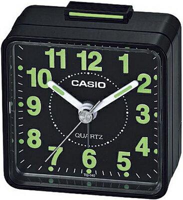 カシオ スタンダード 置き時計 アナログ 目覚まし時計 アラビア数字 ブラック 黒(SCL16OC01BLK)アラーム 3針 クォーツ カシオ CASIO 目覚まし時計 トラベルクロック