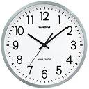 カシオ 電波時計 壁掛け時計 アナログ 掛け時計 おしゃれな シルバー 銀 アルミ枠 ホワイト 白 大型文字板 (CL17SP01SLWH) シンプルで 見やすい アラビア数字 秒針 音がしない 秒針停止機能 CASIO 静かな 電波掛時計 ウォールクロック