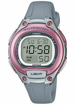 カシオデジタル スポーツウォッチ 5気圧防水 レディース 腕時計 かわいい ピンク SD17OC07PNK アラーム カレンダー ストップウォッチ 10年電池 LED ライト付き ランニングウォッチ CASIO マラソン ランニング 時計 ランニングウオッチ