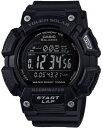 カシオ スポーツウォッチ 10気圧防水 ソーラー メンズ デジタル 腕時計 ブラック 黒 (SD17JLP-101BLK) ソーラー 120ラ…