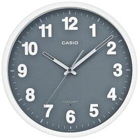 カシオ 電波時計 壁掛け時計 アナログ 掛け時計 おしゃれな グレー 文字盤 (CL18AP01) ホワイト 白 ケース シンプル 見やすい アラビア数字 秒針 音がしない 秒針停止機能 CASIO 電波掛時計 静かな ウォールクロック