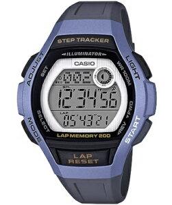カシオ スポーツウォッチ 10気圧防水 レディース デジタル 腕時計 ブルー 青 (LSD19FB05BLU) 歩数計測機能 200ラップ ストップウォッチ カウントダウンタイマー LED ライト付き ランニングウォッチ