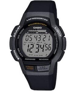 カシオ スポーツウォッチ 10気圧防水 メンズ デジタル 腕時計 ブラック 黒 (MSD19FB01BLK) 60ラップ ストップウォッチ カウントダウンタイマー 10年電池 LED ライト付き 大型液晶 ランニングウォッ
