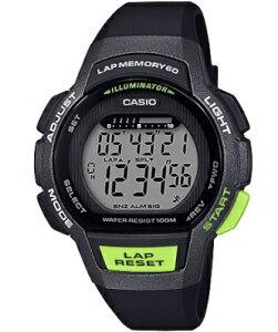 カシオ スポーツウォッチ 10気圧防水 レディース デジタル 腕時計 ブラック 黒 (LSD19FB01BLK) 60ラップ ストップウォッチ カウントダウンタイマー LED ライト付き ランニングウォッチ カシオ レデ