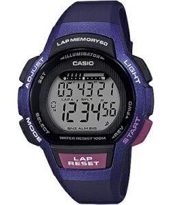 カシオ スポーツウォッチ 10気圧防水 レディース デジタル 腕時計 ブルー 青 (LSD19FB02KAG) 海外版 60ラップ ストップウォッチ カウントダウンタイマー LED ライト付き ランニングウォッチ カシオ