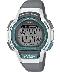 カシオ スポーツウォッチ 10気圧防水 レディース デジタル 腕時計 グリーン 緑 (LSD19FB03KAG) 海外版 60ラップ ストップウォッチ カウントダウンタイマー LED ライト付き ランニングウォッチ カシ