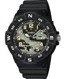 カシオ スポーツウォッチ 10気圧防水 メンズ アナログ 腕時計 グリーン 緑 (SDM19JAP-102) ダイバーズ 方位 回転ベゼル アラビア数字 24時間表示 日付 曜日 カレンダー ランニングウォッチ CASIO 海