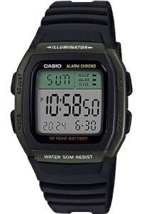 カシオ スポーツウォッチ 5気圧防水 メンズ デジタル 腕時計 おしゃれな グリーン 緑 (SDW19MYP-101) デュアルタイム ストップウォッチ 10年電池 LEDライト付き CASIO 海外限定 マラソン ランニング