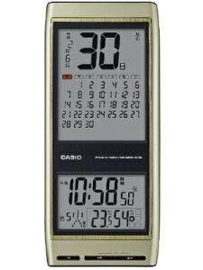 カシオ 電波時計 壁掛け時計 デジタル 掛け時計 おしゃれな ゴールド 金色 (CL19OC01) 見やすい 大型液晶 六曜表示 日付 曜日 月間表示 カレンダー 音声時報機能 温度 湿度計付き CASIO 新元号 令