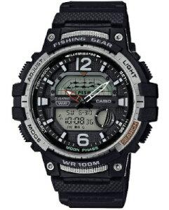 カシオ スポーツウォッチ 10気圧防水 メンズ デジタル アナログ 腕時計 文字盤 見やすい フィッシングギア (SD20JL02) 月齢 ムーンデータ表示 ストップウォッチ カウントダウンタイマー LEDライ