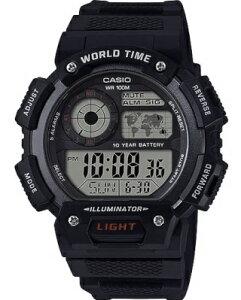 カシオ スポーツウォッチ 10気圧防水 メンズ デジタル 腕時計 ストップウォッチ カウントダウンタイマー (ASD20AU01BLK) ワールドタイム アラーム カレンダー LED ライト付き ランニングウォッチ