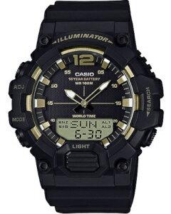 カシオ スポーツウォッチ 10気圧防水 メンズ デジタル アナログ 腕時計 (HSD20AU13BKGD) テレメモ30件 ストップウォッチ カウントダウンタイマー 10年電池 LED ライト付き ランニングウォッチ カシ