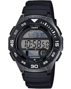 カシオ スポーツウォッチ 10気圧防水 メンズ デジタル 腕時計 10年電池 (WSD20AU19) タイドグラフ ムーンデータ ストップウォッチ カウントダウンタイマー LED ライト付き ランニングウォッチ カ