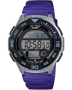 カシオ スポーツウォッチ 10気圧防水 メンズ デジタル 腕時計 10年電池 (WSD20AU20) タイドグラフ ムーンデータ ストップウォッチ カウントダウンタイマー LED ライト付き ランニングウォッチ カ