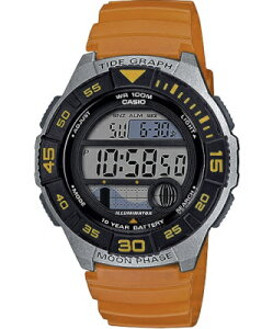 カシオ スポーツウォッチ 10気圧防水 メンズ デジタル 腕時計 10年電池 (WSD20AU21) タイドグラフ ムーンデータ ストップウォッチ カウントダウンタイマー LED ライト付き ランニングウォッチ カ