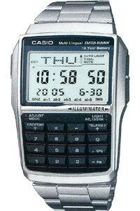 【CASIO】カシオ データバンク デジタル 腕時計 シルバー(DBC-32メタル)1/100秒ストップウォッチ 10年電池 カシオ CASIO 海外限定 マラソン ランニング 腕時計 ランナー ウォッチ