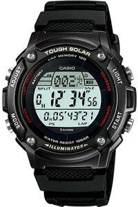 カシオ スポーツウォッチ ランニングウオッチ 10気圧防水 ソーラー デジタル 腕時計 (SD10AUP-502B海外版) ストップウオッチ カウントダウンタイマー 120ラップ LEDライト付き ソーラー ランニン