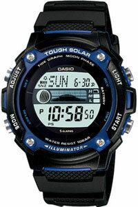 カシオ ランニングウォッチ スポーツウォッチ 10気圧防水 ソーラー デジタル 腕時計 ランニングウオッチ W-S210H-1AJF海外版 タイドグラフ ムーンデータ ストップウォッチ LEDライト付き CASIO 海外限定 マラソン ランニング 時計 ウォッチ