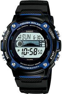 カシオ ランニングウォッチ スポーツウォッチ 10気圧防水 ソーラー メンズ デジタル 腕時計 (SD10AUP-601) タイドグラフ ムーンデータ ストップウォッチ カウントダウンタイマー LED ライト付き C