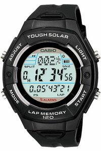 カシオ スポーツウォッチ 5気圧防水 ソーラー デジタル レディース 腕時計(SD10AUP-701BLK) LEDライト ストップウォッチ 120ラップ ソーラー ランニングウォッチ カシオ CASIO ランナーズ マラソン ランニング 時計 ランナー ウォッチ