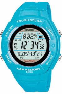 カシオ スポーツウォッチ 5気圧防水 ソーラー デジタル レディース 腕時計(SD10AUP-702BLU)ストップウォッチ カウントダウンタイマー 120ラップ LEDライト付き ランニングウォッチ CASIO ランナーズ マラソン ランニング 時計 ランナー ウォッチ