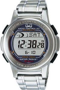 シチズン 電波時計 スポーツウォッチ 10気圧防水 メンズ デジタル ソーラー電波 腕時計(MHBQ10-001MTL)電波ソーラー ストップウォッチ LEDライト付き ランニングウォッチ Q&Q CITIZEN マラソン ランニング 時計 ランナー ウォッチ