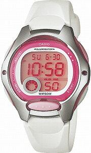 カシオ スポーツウォッチ デジタル ランニングウォッチ 5気圧防水 レディース かわいい 腕時計 ホワイト 白(LW09P-5909)ストップウォッチ 10年電池 LEDライト付き CASIO 海外限定 マラソン ランニング 時計 ランニングウオッチ