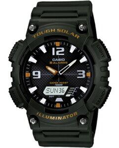 カシオ スポーツウォッチ 10気圧防水 ソーラー メンズ デジタル アナログ 腕時計 ストップウォッチ カウントダウンタイマー (AS12MAP-104GRN) ワールドタイム アラーム カレンダー LED ライト付き