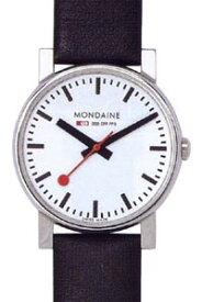 モンディーン エヴォ 日常生活 3気圧防水 メンズ アナログ 腕時計 ホワイト 白 ダイアル 3針 クォーツ(A658.30300.11SBB)ブラック 黒 本革 レザー 革バンド MONDAINE MENS ANALOG おしゃれな カジュアル ドレス ウォッチ 腕時計