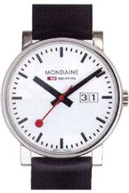 モンディーン エヴォ ビッグデイト 日常生活 3気圧防水 メンズ アナログ 腕時計 ホワイト 白 ダイアル 40ミリビッグサイズ(A627.30303.11SBB)日付 カレンダー ブラック 黒 本革 レザー 革バンド MONDAINE MENS ANALOG おしゃれな カジュアル ドレス 腕時計