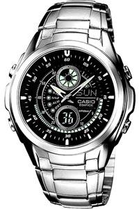 カシオ エディフィス スポーツウォッチ 10気圧防水 デジタル アナログ 腕時計 (SD7MR22) ストップウォッチ カウントダウンタイマー ELライト付き ランニングウォッチ カシオ CASIO EDIFICE マラソン ランニング ウォッチ 時計
