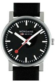 モンディーン エヴォ 日常生活 3気圧防水 メンズ アナログ 腕時計 スタンダード 3針 クォーツ 本革 レザー 革バンド ブラック 黒(A658.30300.14SBB-N)ベーシック MONDAINE MENS ANALOG おしゃれな STANDARD BASIC WATCH カジュアル ドレス 腕時計