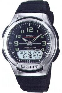 カシオ スポーツウォッチ 10気圧防水 デジタル アナログ 腕時計 (SD8OC13BLK)ワールドタイム ストップウォッチ カウントダウンタイマー 10年電池 LEDライト付き ランニングウォッチ カシオ CASIO マラソン ランニング ウォッチ 時計