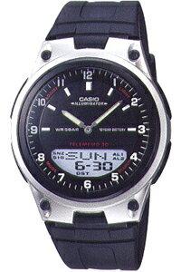カシオ スポーツウォッチ チープカシオ チプカシ 5気圧防水 メンズ デジタル アナログ 腕時計(SD8OC40BLK)ストップウォッチ カウントダウンタイマー 10年電池 LEDライト付き ランニングウォッチ CASIO マラソン ランニング 時計