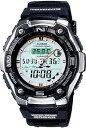 カシオ スポーツウォッチ 20気圧防水 デジタル アナログ 魚釣り 腕時計(SD9OC02)月齢 ムーンデータ 温度計 ELライト…
