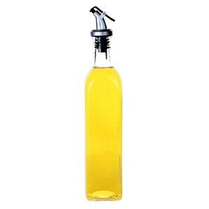 オイルボトル 調味料入れ 醤油ボトル 酢ボトル 油さし オイル差し ガラス素材 防塵 業務用 家庭キッチン 飲食店 500ml 1個