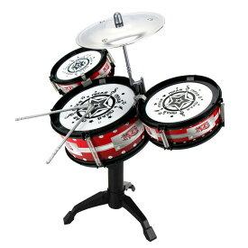 楽器 3ドラム 子供用 ミニドラムセット ドラマーごっこ バンドごっこ ドラムセット 小シンバル ドラムスティック 子供 キッズ プレゼント 景品 ギフト お祝い