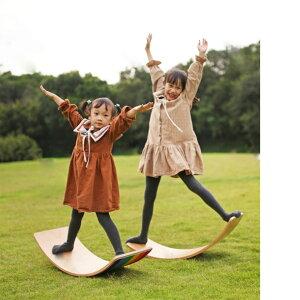 木製バランスボード ヨガボード カーブボード 木製ロッカーボード フェルト層なし 子ども用 室内遊具 ヨガ 体幹 室内運動 おもちゃ バランス感覚を養う 子供 スポーツ アウトドア 屋内