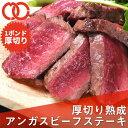 熟成 アンガスビーフ 厚切り サーロインステーキ 1ポンド【 牛肉 ステーキ肉 塊 熟成肉 サーロイン 父の日 ギフト 赤身肉 BBQ 】2枚以上購入で送料無料