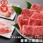 [ギフト送料無料]おきなわ和牛・TOKYOX・どろぶた豪華三種盛りセット(1kg)すき焼き・しゃぶしゃぶ用サーロインロースバラもも【牛肉豚肉お歳暮】