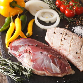 鴨鍋に!合鴨ロース ステーキカット/1パック/200g以上(タイ産チェリバレー種)カナール 鴨肉 合鴨肉 合鴨 合鴨ステーキカット ロース正肉 フィレドカナール、 鴨胸肉のポワレ、鴨ローストに。