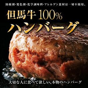 自家製【神戸牛・但馬牛100%】 ハンバーグ 6個 1.14kg