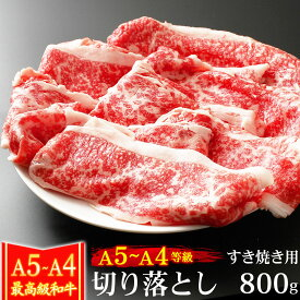 ギフト 肉 牛肉 A4 〜 A5ランク 和牛 切り落とし 800g 400g×2 すき焼き用 訳あり 黒毛和牛 すき焼き肉 A4〜 A5等級 高級 国産 内祝い お誕生日 プレゼント 化粧箱対応